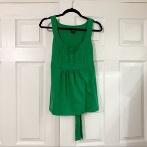 Maurices Kelly Green Tie Back Tank Top Size Large